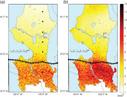 Seattle On A Map by A Scenario Study Of Seismically Induced Landsliding In Seattle