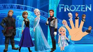 frozen cartoon animation finger family nursery rhymes kids