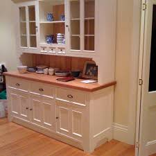 Kitchen China Cabinet Hutch Furniture White Buffet Hutch With 4 Drawers And 8 Doors For Home