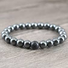 mens beaded jewelry bracelet images Men 39 s beaded bracelet 8 mm sets hematite amp rock lava stone for jpg