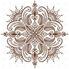 abstract ornate floral frame with indian ornament vector clipart