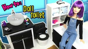 How To Make Dollhouse Furniture From Recycled Materials Diy How To Make A Toilet For Barbie Doll Dollhouse Miniatures