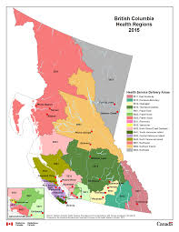 Northern Canada Map by 12 British Columbia Health Regions 2015