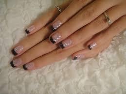 fingern gel design galerie black white nail designs archive black tip gel