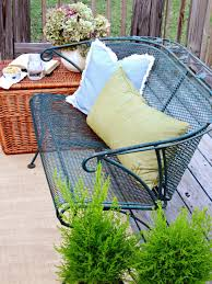 shabby chic patio decor give your outdoor spaces character with flea market finds hgtv