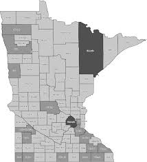 Mn Counties Map Uglybridges Com Minnesota Coverage Map