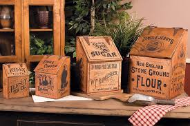 primitive kitchen canisters vintage wooden advertising canisters kitchen canister sets