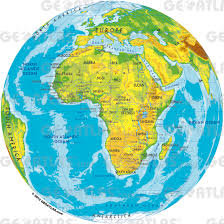 Africa Map by Geoatlas Globes Africa Map City Illustrator Fully Modifiable