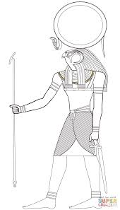 egyptian god ra coloring page free printable coloring pages