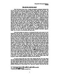 Significance Of Iron Curtain Speech Essay Plan Which Of The Following Marked The Start Of The Cold War