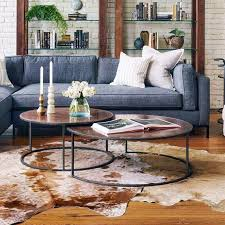 round nesting coffee table catalina copper clad round nesting coffee tables zin home