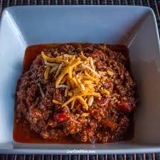 chili cuisine chunky no bean chili low carb yum