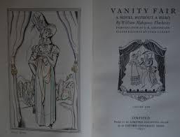 Vanity Fair William Makepeace Thackeray Limited Editions Club U2013 Vanity Fair By William Makepeace Thackeray