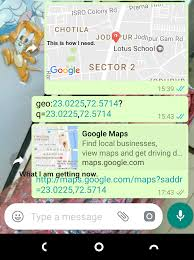 Google Com Maps Android Sharing Location Using Whatsapp From My Application