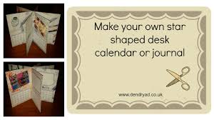 How To Make Your Own Desk Calendar Make Your Own Star Shaped Desk Calendar Or Journal Youtube