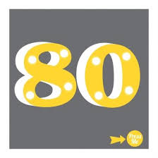 80 showtime light up age 80th birthday card 5 99 a great