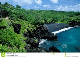 Black Sand Beaches black sand beach maui stock photos image 2107063