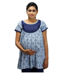 ziva maternity wear buy ziva maternity wear baby blue cotton tops online at best
