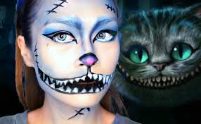how to do halloween makeup easy cheshire cat halloween makeup u0027alice in wonderland u0027 tim