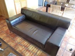 canapé kramfors ikea achetez canapé cuir 3 places quasi neuf annonce vente à dijon 21