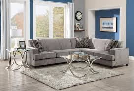 Living Room Glass Table Furniture Cool Grey Sectional Couches Design With Glass Table And
