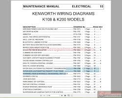 kenworth k108 k200 models electrical wiring diagrams auto