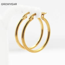 simple ear rings bulk classic simple stainless steel earrings jewelry golden