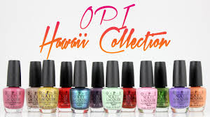 opi hawaii collection swatches and live application youtube