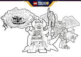 bad guys formation colouring page activities nexo knights