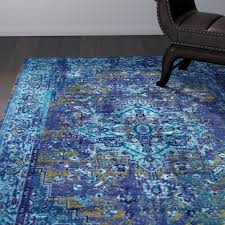 Blue Area Rugs World Menagerie Tyrese Blue Area Rug Reviews Wayfair