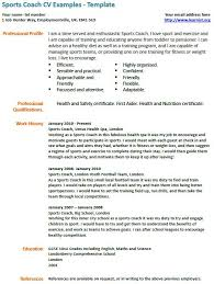 Basketball Coach Resume Example by Homely Inpiration Sports Resume 9 Coach Cv Example Resume Example
