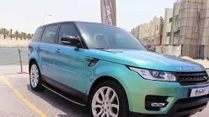 land rover green walk around video range rover sport wrapped in hexis iridescent