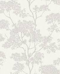 fine decor aspen copper grey tree wallpaper fd40980