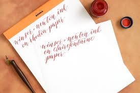 paper for fountain pen writing best calligraphy papers for practice and projects the postman u0027s