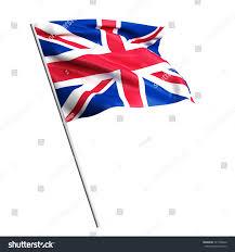 3d waving colorful england flag render stock illustration