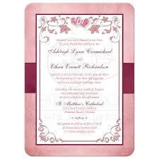 Wedding Invitations And Rsvp Cards Together Burgundy Blush Wedding Invitation Printed Ribbon Jewels