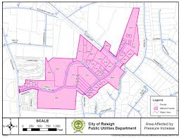 Map Of Raleigh Nc Pressure Zone Switchover Project Rescheduled For April 19th At 6