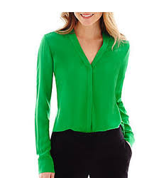 green blouses jcpenney worthington sleeve button front blouse where to
