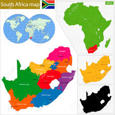 Blank Map Of South African Provinces by South Africa Map With The Provinces And The Main Cities Royalty