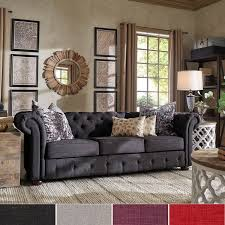 Chesterfields Sofa Knightsbridge Tufted Scroll Arm Chesterfield Sofa By Inspire Q