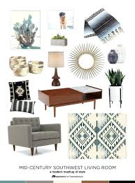 Southwestern Living Room Furniture Southwestern Living Room Furniture Get The Look Mid Century Modern