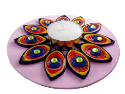 buy hand made paper quilling floating diwali diya online
