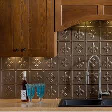 fasade backsplash fleur de lis in argent bronze