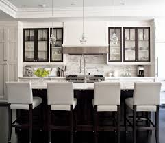 Transitional Pendant Lighting Glorious White Kitchen Marble With Glass Cabinets