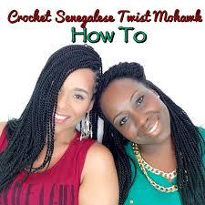 crochet hair mohawk pattern crochet senegalese mohawk how to tia kirby youtube