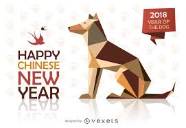 chinese design low poly chinese new year design vector download
