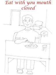 Kids Coloring Table Pictures Of Table Manners Coloring Pages Creative Coloring Page