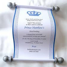scroll invitation royal prince birthday party invitation from artful beginnings