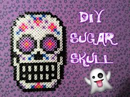 diy halloween tutorial sugar skull in pyssla hama beads ita