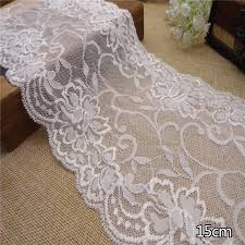 wide lace ribbon ivory white wedding lacestretch lace trim wide lace